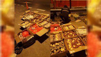 Decomisaron 350 kilos de fiambres ilegales sobre la Ruta 22
