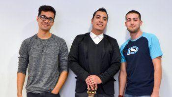Esteban Rodríguez (22), Luis Mora ( 25) y Santiago Basso (22) son los integrantes del grupo Nivel Tres, uno de los de mayor proyección en la región.