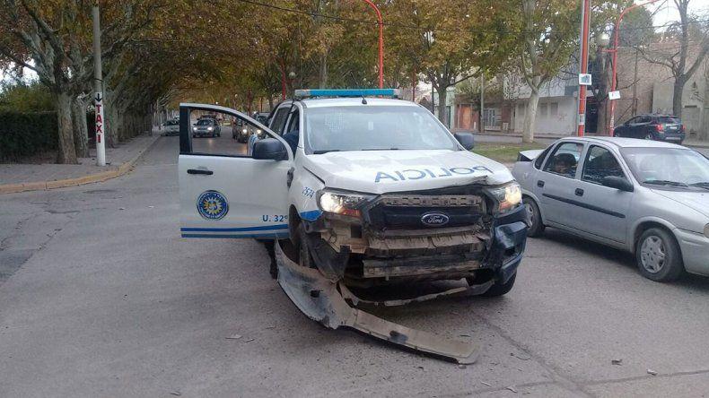 Iban al accidente de Ruta 151 y chocaron en pleno centro