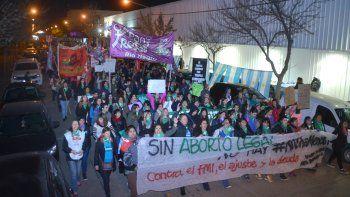 Una gran cantidad de mujeres cipoleñas participó de la movilización contra la violencia machista.