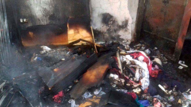 Toma Los Sauces: perdieron todo por un incendio y piden ayuda