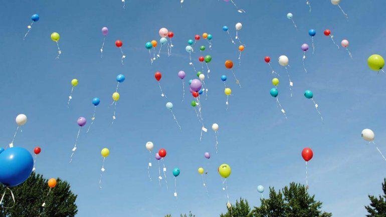 La Legislatura prohibió la suelta de globos con helio en toda la provincia