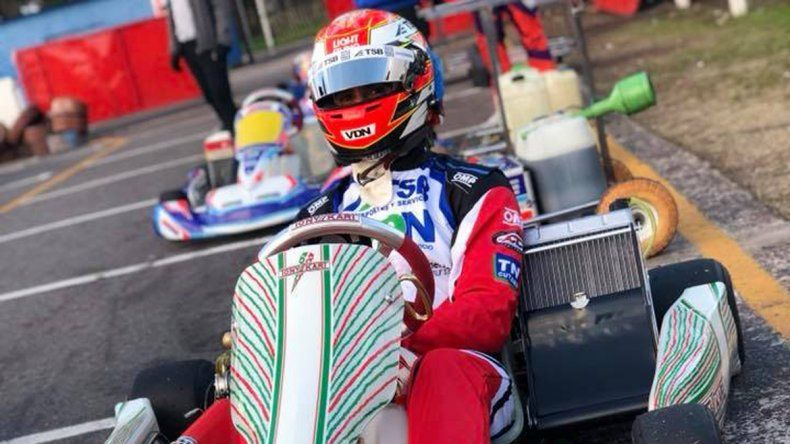José Manuel Urcera estuvo dando vueltas en karting entre semana