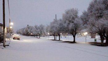 En la Región Sur de la provincia el termómetro marcó -14 grados