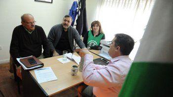 Aguiar se reunió con Di Giácomo en la sede central del IPAP, en Viedma.