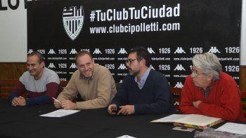 Pierucci, Caldiero, Romero y Gutiérrez, parte de la directiva de Cipo que deberá idear una nueva temporada.