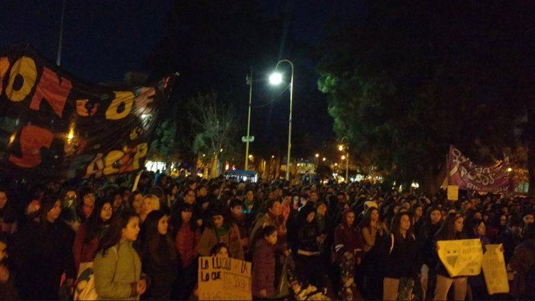 Las mujeres marcharon en la ciudad por el aborto legal