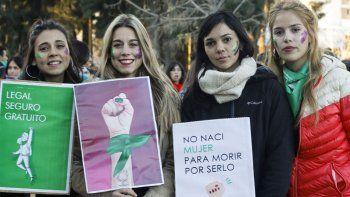 La media sanción de la ley del aborto legal se celebró en la ciudad