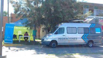 la unidad movil de migraciones llega hoy a cipolletti