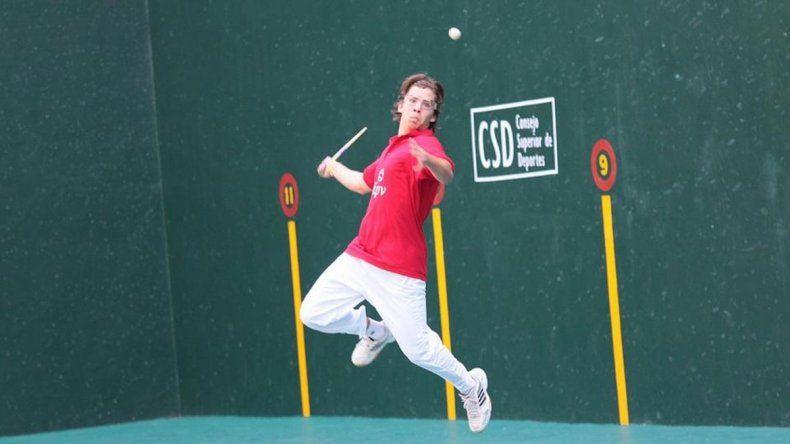 Facundo Andreasan ha sido campeón también en la pelota vasca.