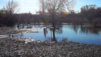 proteccion civil pidio a los vecinos estar atentos por la crecida del rio neuquen