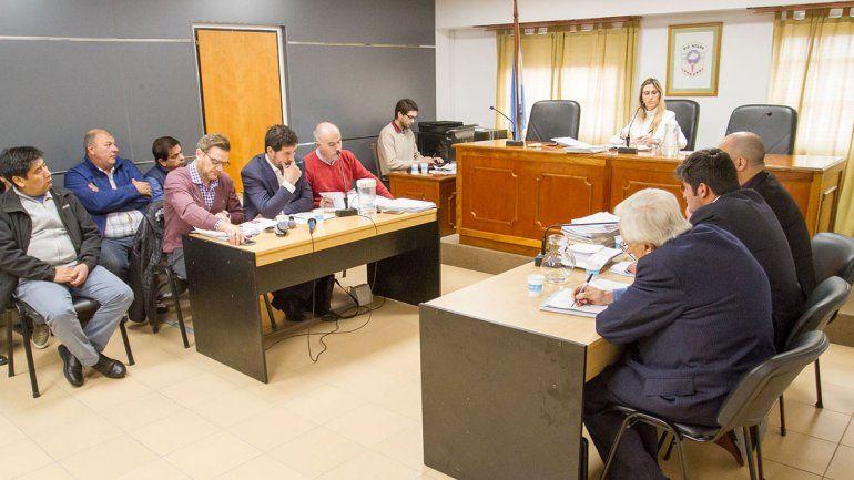 La jueza de Garantías Florencia Caruso presidió la audiencia de ayer y resolvió pasar a un cuarto intermedio para analizar un reclamo de la defensa.
