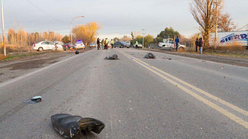 Conmoción por otra muerte de motociclista en un cruce de la 22