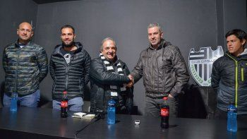 San Pedro, Alecha, Rapazo Cesio y Zwenger, en la presentación del nuevo cuerpo técnico de Cipo.