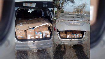atrapan a chino intentando contrabandear 320 kilos de queso cremoso en la camioneta