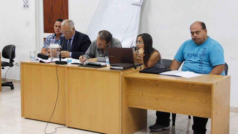 Los policías Mario Leiton y Matías Gutiérrez