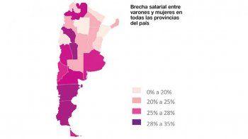 rio negro tiene una brecha salarial del 28 por ciento entre varones y mujeres