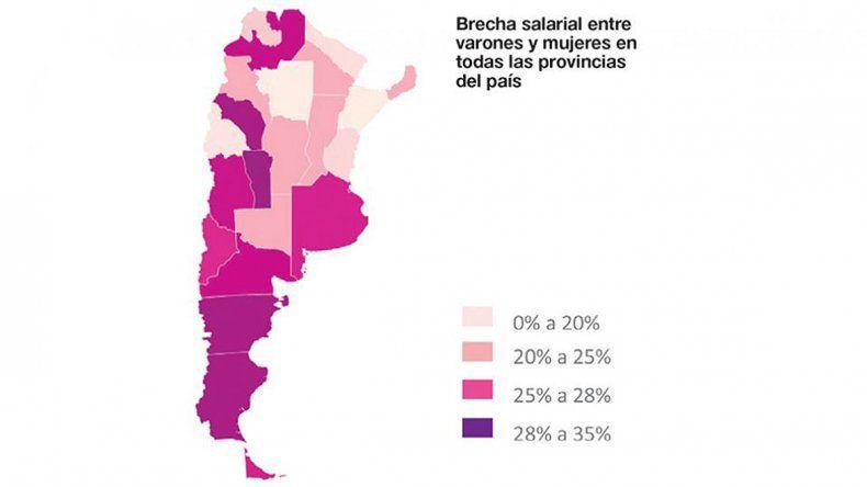 Río Negro tiene una brecha salarial del 28 por ciento entre varones y mujeres