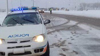 suspenden el servicio de colectivos hacia la cordillera por la nieve