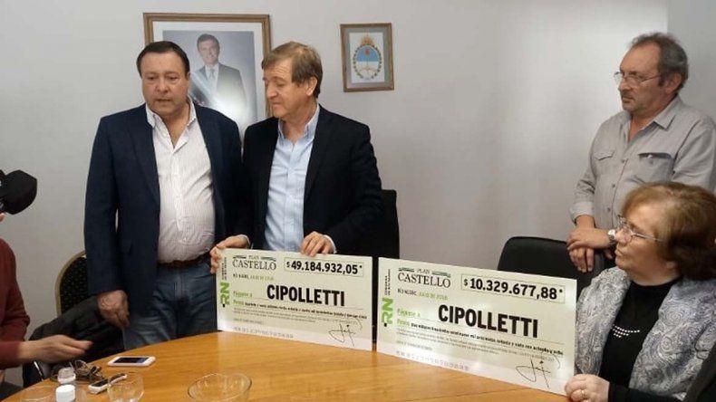 Entregan a la ciudad 60 millones de pesos del Plan Castello para la obra pública