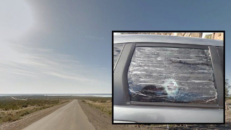 Volvía del lago Pellegrini en auto y le rompieron el vidrio de un piedrazo para robarle