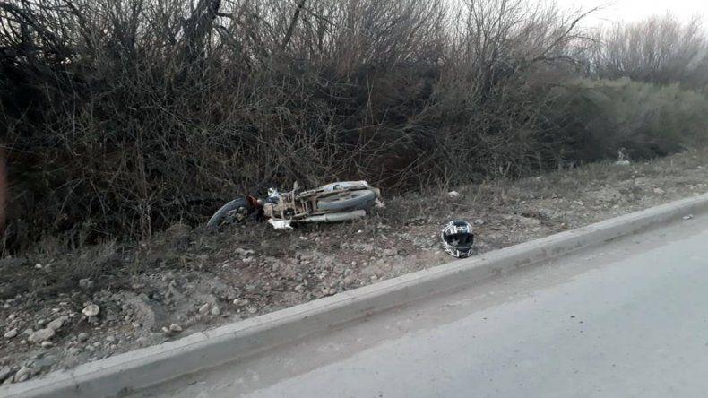 Un brutal choque entre motos terminó con dos hombres heridos de gravedad