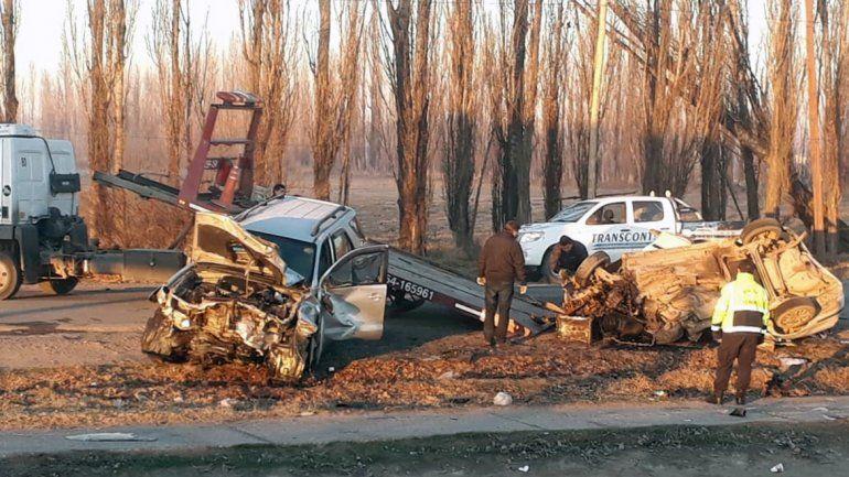 El brutal choque múltiple en el que falleció Oscar Linares (35) ocurrió en la Ruta 65
