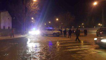 Fue necesario un gran despliegue policial en las 1200 para evitar incidentes y apresar al sospechoso.