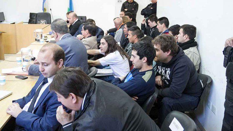 A la mayoría de los acusados se los notó muy relajados en la audiencia.
