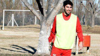 Medina en su primera práctica con Independiente. No le gritaría un gol a Cipo, prometió hace unos días.