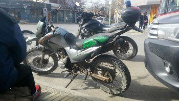 estaba en pleno centro con una moto robada y lo encontraron