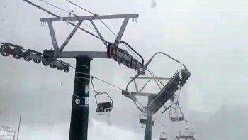 Récord: en el cerro Catedral se registraron vientos de hasta 161 km/h