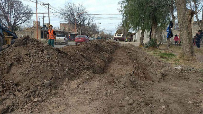 La obra del cordón en el Piedrabuena finalizará con el sector sur.