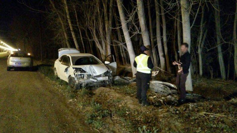 El accidente se produjo en la Ruta Chica