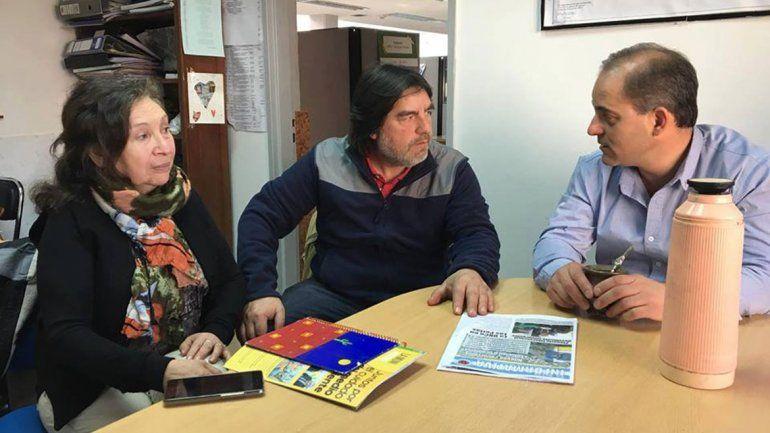 Perlenses y concejales de Neuquén buscan mejorar el transporte.
