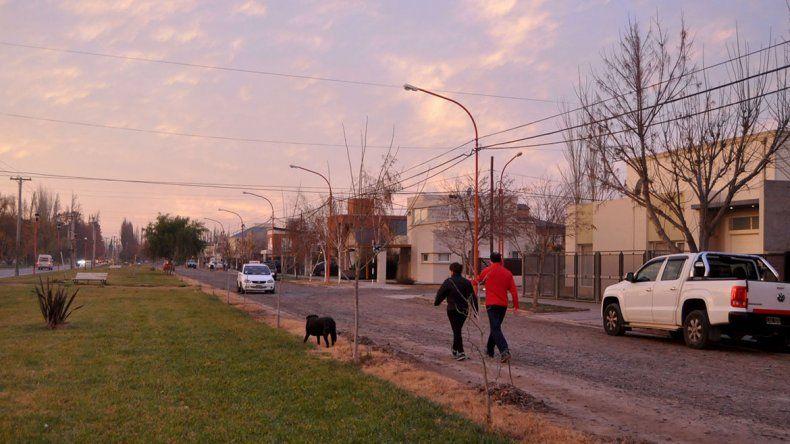 El barrio Las Viñas se destaca por su tranquilidad en gran parte del día.
