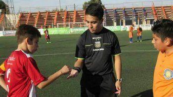 Chumbita, el joven árbitro que fue agredido la fecha pasada en la Liga.