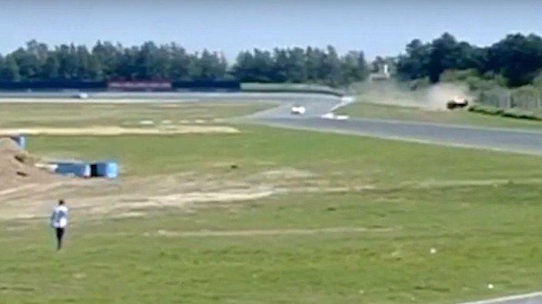 Mirá el tremendo accidente de Manu Urcera en Rosario