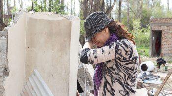 drama: una cipolena volvio a su casa y se encontro con una montana de escombros