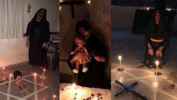 estudiantes cipolenos hicieron un ritual satanico y hubo bronca