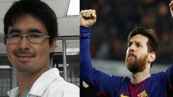 Un allense le hizo un emotivo pedido en las redes a Leo Messi
