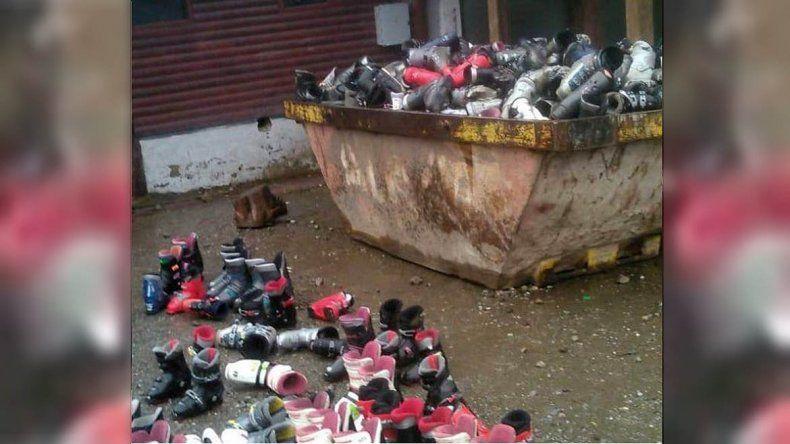 Comerciante dio explicaciones sobre las botas de esquí arrojadas a la basura