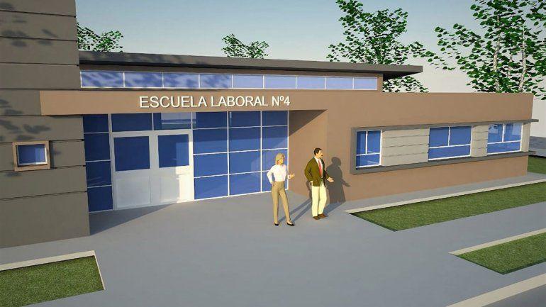 Dieron a conocer cómo será el edificio de la Escuela Laboral 4.
