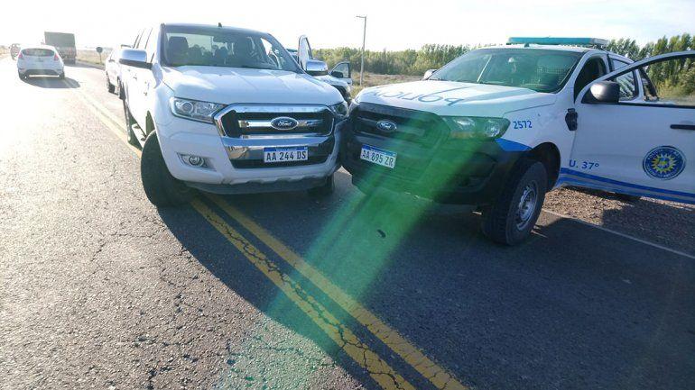 Persecución de película en Chimpay tras el robo de una camioneta último modelo