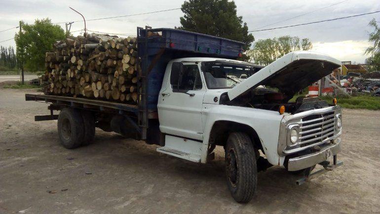 Secuestraron cinco toneladas de álamo ilegales en puesto caminero