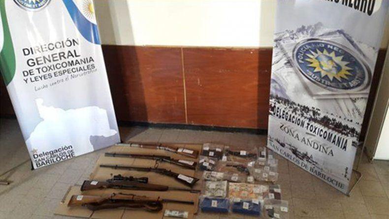 Importante golpe al narcotráfico de la policía rionegrina