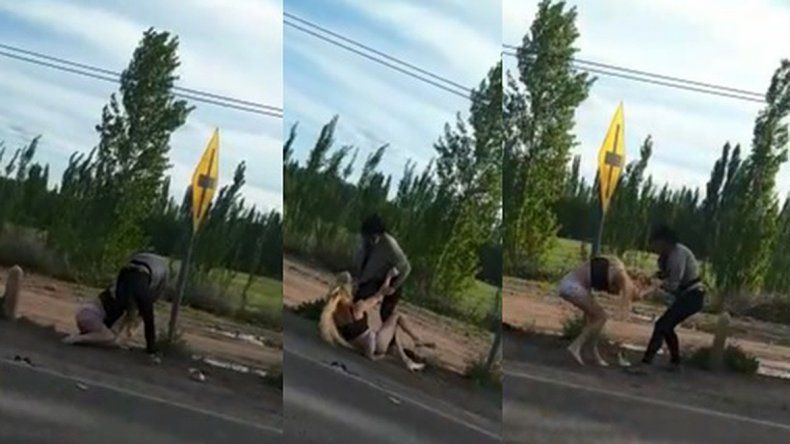 Grabaron la brutal golpiza a una joven trans en la banquina de la Ruta Nacional 22
