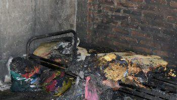 tragico incendio en viedma: murio el padre de los nenes