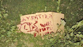 encontraron una bomba con una inscripcion mapuche en roca