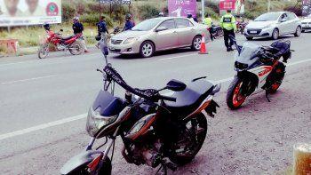motociclistas no pudieron zafar de los controles